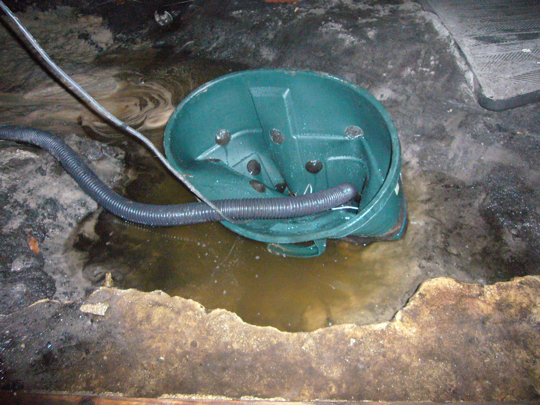 Backyard Sump Pump Well
